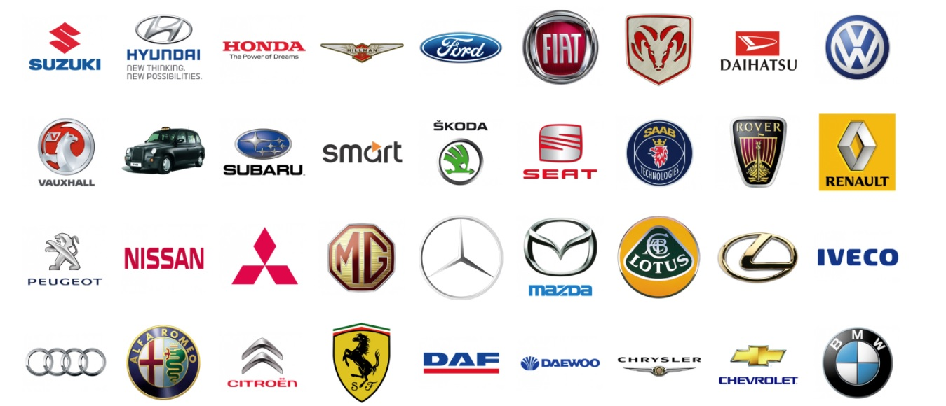 brands of different cars
