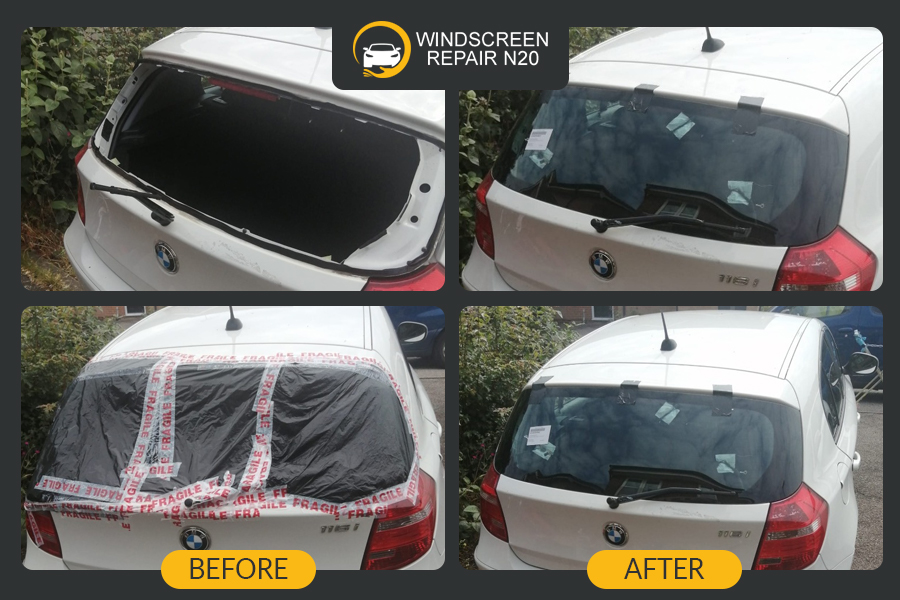 bmw rear window replacement